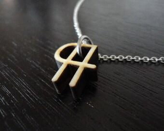 Paragraph Symbol Necklace