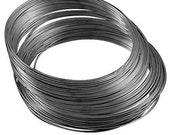75 circles , Steel Bracelet Memory Wire 5.5CM, Black Gun Color, Wire: .6 mm