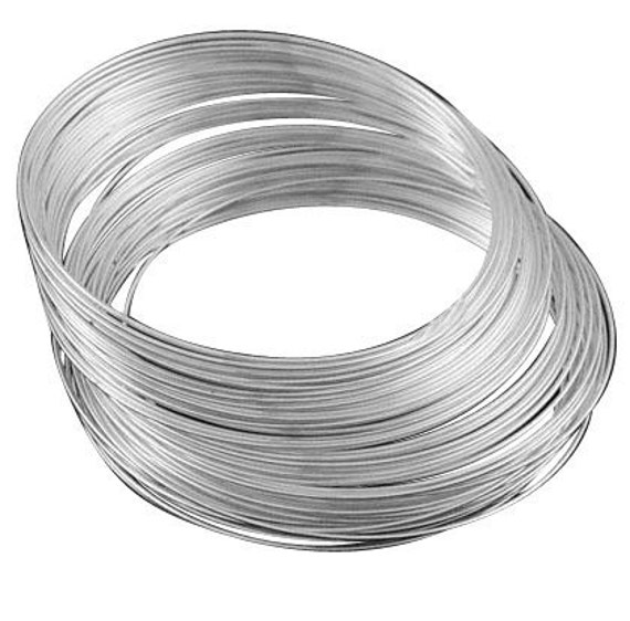 40 circles ,Memory Wire, Steel, Silver Color, 5.5cm, wire: 1.0mm. Good for making bracelets and hoop earrings.
