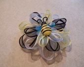 Layered Loopy Bumblee Bee Hair Bow