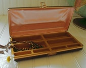 Hardshell Cocoa Brown Travel Jewelry Case - Vintage 1970s - Men's or Women's