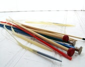 Knitting Needles Collection of 7 Sets - Vintage Sewing Essentials - 12 Pieces for Repurposing