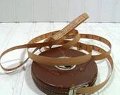 Leather Covered Cloth Measuring Tape - Vintage Lufkin Rule Co. - Junior Metallic 50 feet