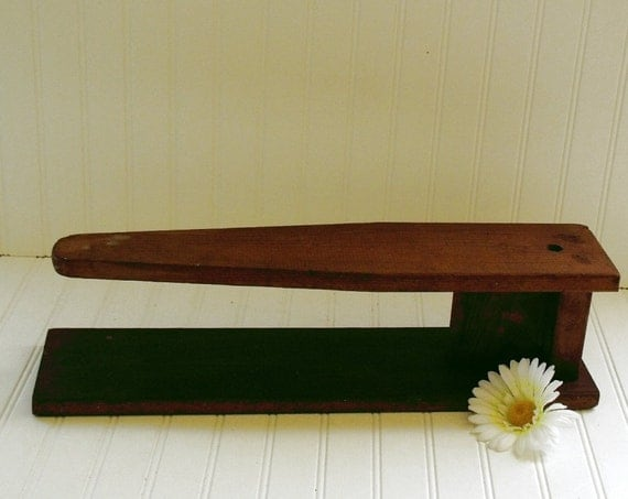 Wooden Sleeve Board - Vintage Clothes Press for Seamstress or Tailor - Rustic Primitive Laundry Room Decor