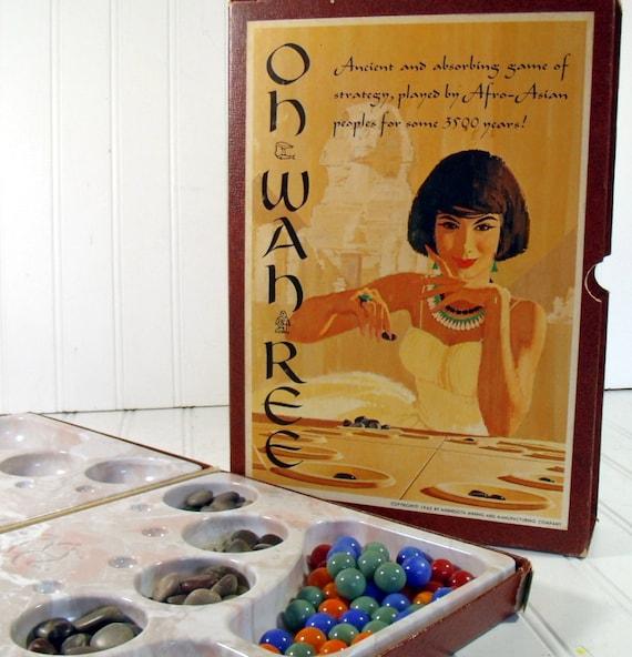 Oh-Wah-Ree Game - Vintage Minnesota Mining and Manufacturing Company  - 3M Bookshelf Original Box