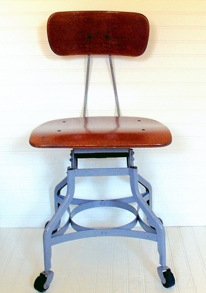 Toledo Machinist Chair Vintage Toledo Metal Furniture Co