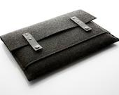 17 Inch Macbook CASE Pro - felt and leather (Anthbla)