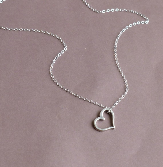 Rustic Sterling Heart -- Entirely Sterling Silver Necklace