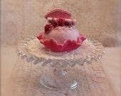 Felt Food - A Pink Medley Cupcake