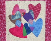 Heart Puzzle PDF Digital Quilt Pattern - quick, easy wall hanging