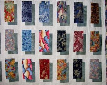PDF Digital Quilt Pattern - Shadow Boxing Patchwork Quilt - Layer Cake & Fat Quarter  Friendly