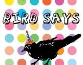 Birthday Bird Original Design Card