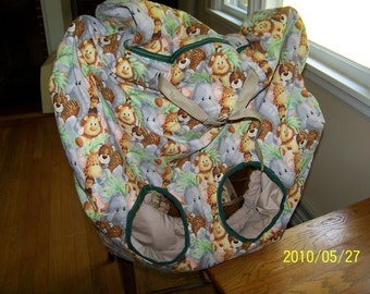 shopping cart and high chair cover made to order