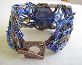 Blue Serenity Beadwoven Bracelet - Reserved for Ruth