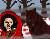 5x7 Red Riding Hood Twilight Print