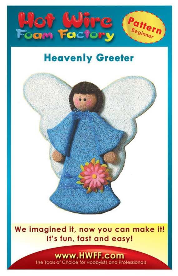 Styrofoam/Polystyrene/EPS Foam Angel Pattern - DIY Home Decor