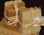 Natural Honey Soap Gift Set - TRAVEL SIZE PACK by Wild Herb Soap Co. (3 slice set)