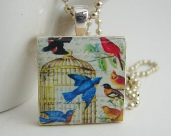 Free as a Bird Pendant with Free Necklace