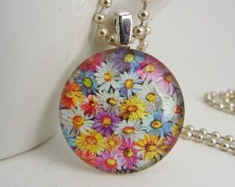 Packed Petals Pendant with Free Necklace