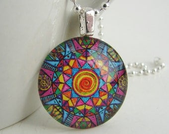 Kaleidoscope Pendant with Free Necklace