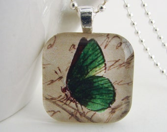 Emerald Wings Pendant with Free Necklace