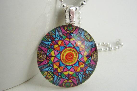 Kaleidoscope Pendant with Free Necklace