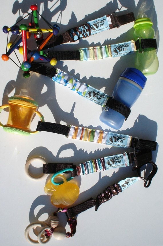 Toy Leash, Strap, Lanyard and Tether for Toys, Sippy Cups and Baby Bottles - Keep those toys from getting tossed and dirty