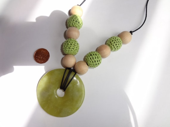 CLEARANCE Eco Friendly Green Nursing and Wellness Necklace