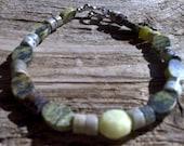 misc.stone beaded bracelet 8 inch
