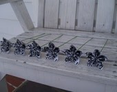 Black and White Damask Paper Flowers - Origami