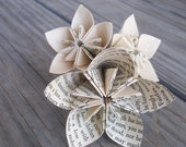 Eco Friendly Paper Flower Boutonniere - Origami