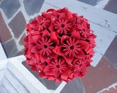 Paper Flower Bridal Bouquet - Kusudama Origami - Pick your color