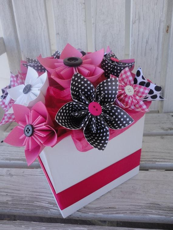 Items similar to paper flower centerpiece kusudama