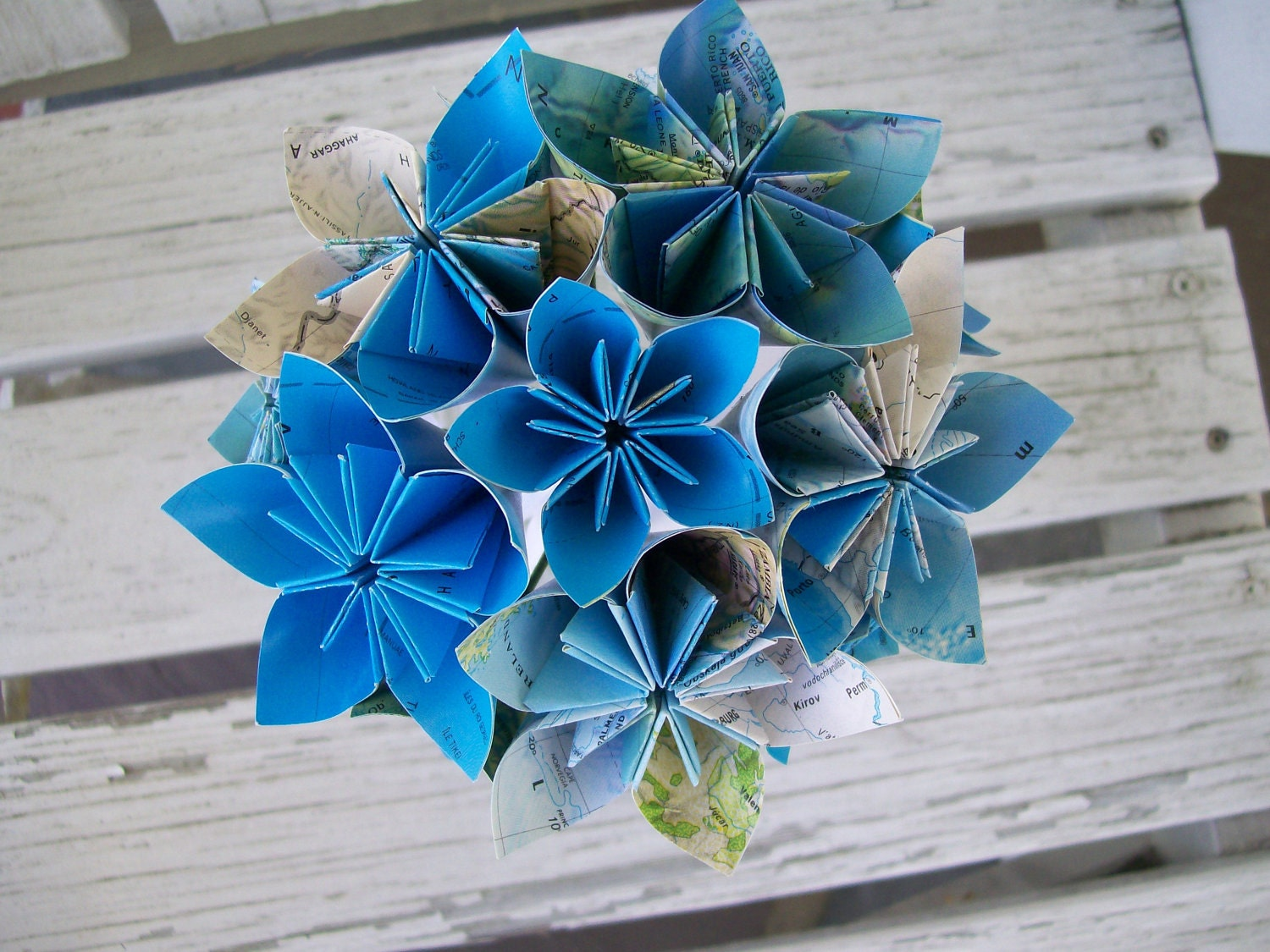 Items similar to Eco Friendly Atlas Paper Flower Wedding Bouquet and Boutonni