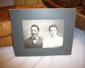 Antique Black & White Photo Post card  Picture of husband and wife Great  scrapbooking item