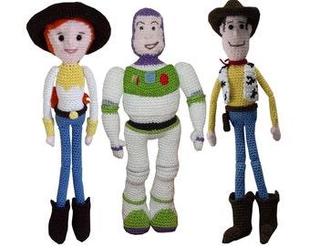 Amigurumi Crochet Pattern: Buzz, Jessie & Woody