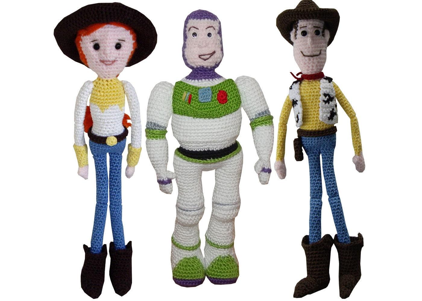 Toys Story Amigurumi : Amigurumi Crochet Pattern: Buzz Jessie & Woody
