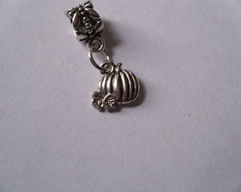 Pumpkin Dangle Charm Bead fits European Style Charm Bracelets, Necklaces