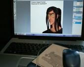 Reserved for DasWolli - Custom Digital Portrait of Original Character Amon