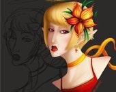 Custom Digital Portrait Made to Order One of a Kind Artwork