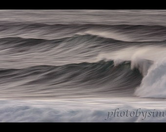 Winter Waves stormy seas Maui Hawaii high surf dark gray mood