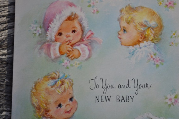 Vintage Unused Baby Card