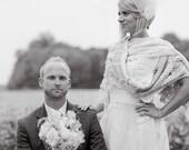 Custom texas Bride Shabby Crochet Shawl Shrug Vintage Laces Velvet Roses Tattered
