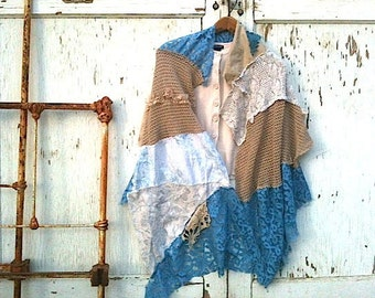 MADE TO ORDER, custom, bride, bridal shawl, shabby shawl, cover up, wedding shawl, turquoise, western style, rustic wedding