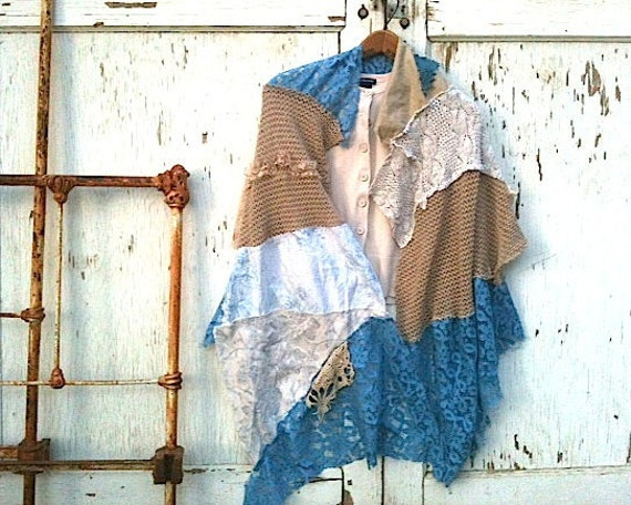 MADE TO ORDER, custom, bride, bridal shawl, shabby shawl, cover up, wedding shawl, turquoise, western style, rustic wedding