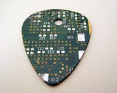 Guitar pick made from recycled circuit board
