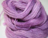 Yarn Superfine Alpaca Lace Weight 2-Ply 490 yards Hand Painted 100% Reproducible Colors International Shipping - Sweet Lavender