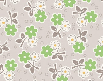 SALE - Millie's Closet by Bee in My Bonnet for Riley Blake Designs - Floral in Green