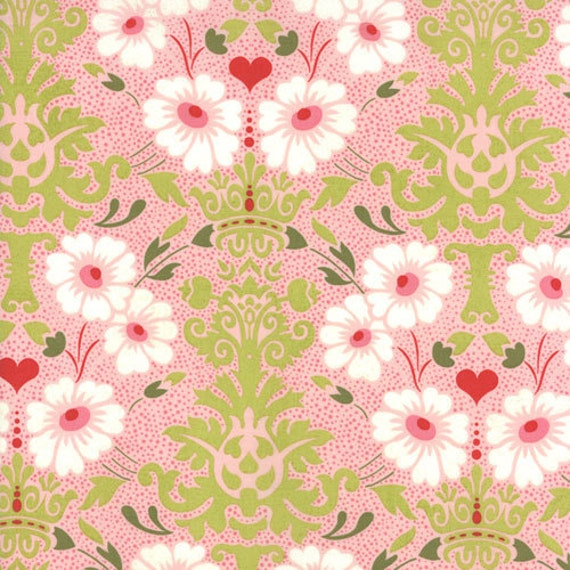 Clearance - Hello Luscious by Basic Grey for Moda -  Floral Bouquet in Bubblegum - 1/2 Yard