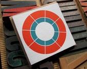 Modern Letterpress Greeting Card - Nested Circles